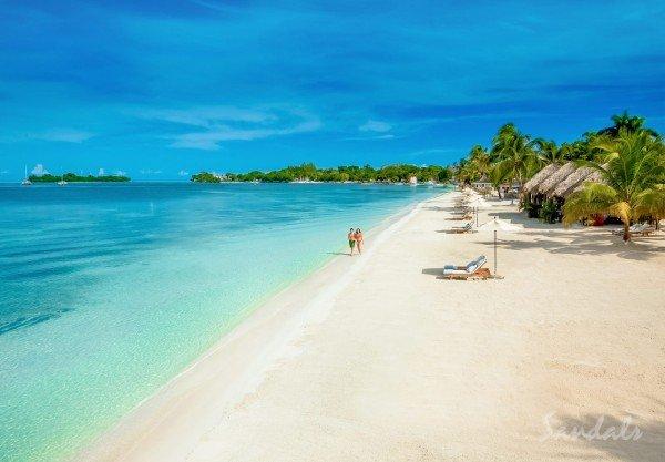 sandals negril beach jamaica couple beach