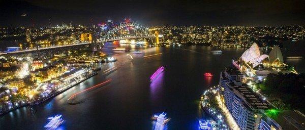 qantas sydney opera lights