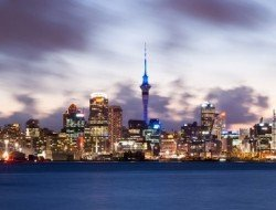 auckland skyline dusk GO Away Travel