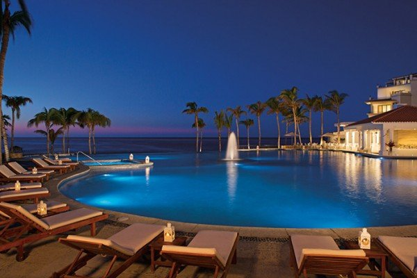 all inclusive dreams mexico los cabos night pool