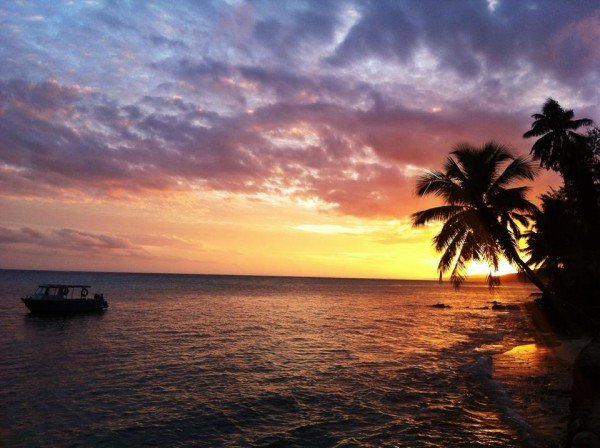 crusoes retreat fiji sunset facebook