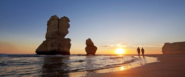aussie air pass melbourne-sunset-australia
