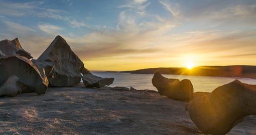 remarkable rocks kangaroo island go away aus