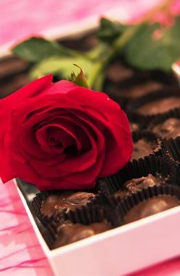 flower-chocolates red rose