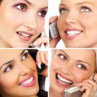 talk telephone women